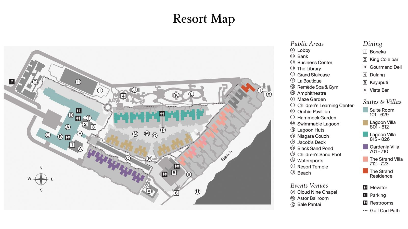 Resort Map - The St. Regis Bali Resort